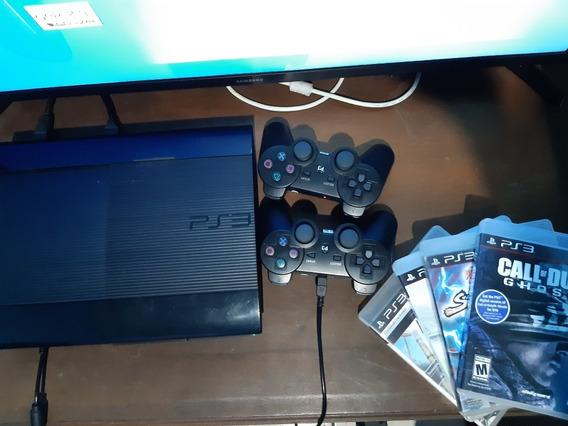 Combo, Play 3/ 2 Controles, 4 Jogos E Tv Samsung