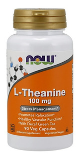 L Teanina Theanine 100mg 90 Cap - Now Foods
