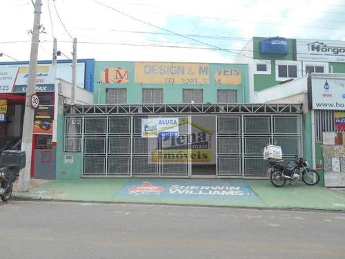 Salão Comercial Para Alugar Com 300 M² - Parque Cidade Campinas - Campinas/sp - Sl0754