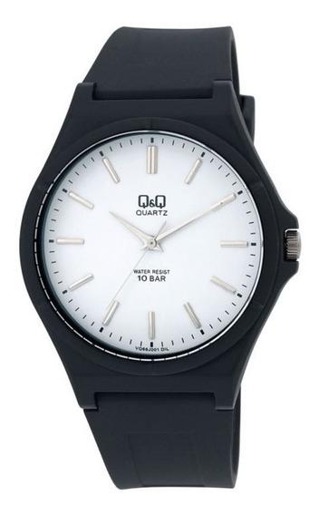 Relógio Q&q Vq66j001y Preto Masculino