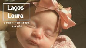 Kit Com 10 Laços Cetim Com Strass Para Bebê