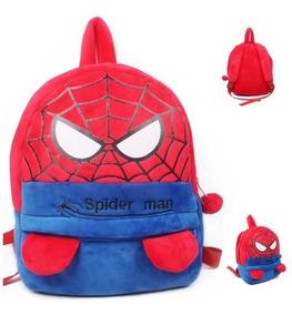Mochila Mini Pelúcia Homem Aranha Super Heroi Infantil Bebê