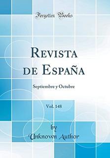 Libro : Revista De España, Vol. 148: Septiembre Y Octubr...