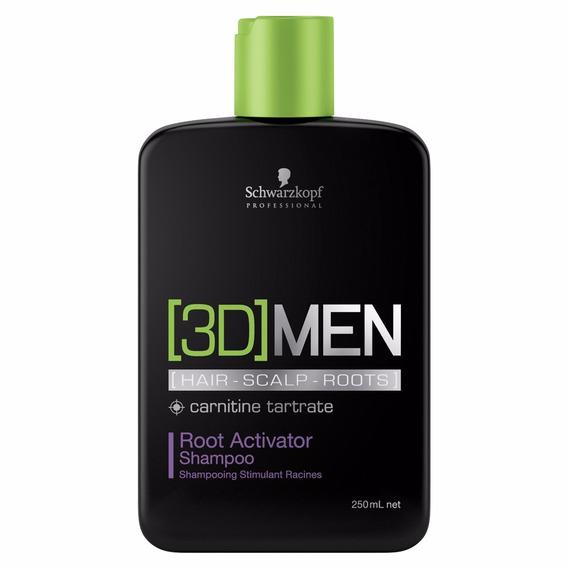 Schwarzkopf 3d Men Raízes Activator Shampoo 250ml