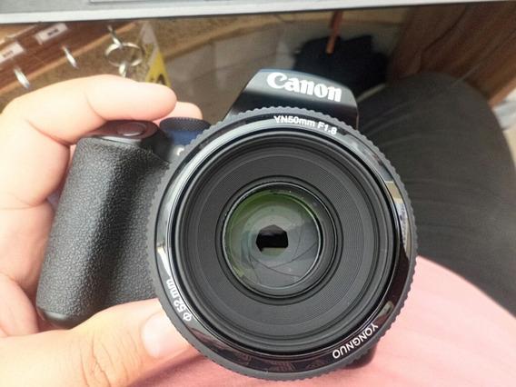 Câmera Canon Eos Rebel T6 Com Lente 18-55 E 50 Mm Yongnuo