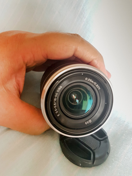Lente Sony Sel1855 E-mount 18-55mm F3.5-5.6 Oss Prata Aps-c