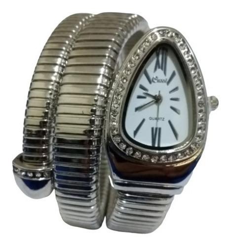 Relógio De Pulso Feminino Branco Cobra Cussi Promoção Barato