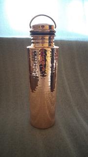 Termo/botella De Agua Elegante Echa De Cobre 32oz.martillada