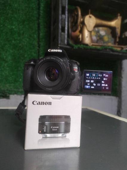 Canon T3i + Canon 50mm F/1.8 Stm + 3 Baterias E Carregador