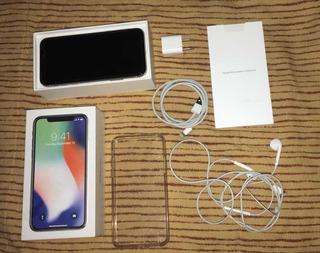 iPhone X 64 Gb Movistar Con Cargador, Carcasa Y Audífonos.