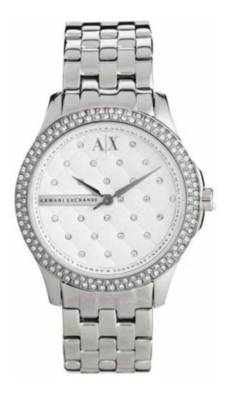Lindo Relógio Feminino Armani Exchange Ax5215 Com Pedras