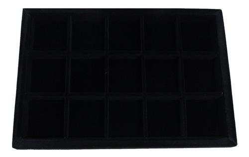 Mostruário De Suede P/ Jóias Com 15 Divisórias 27 X 19,5 Cm