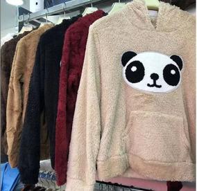 Blusa De Frio Pelinho Pelucia Panda Feminina Promoção