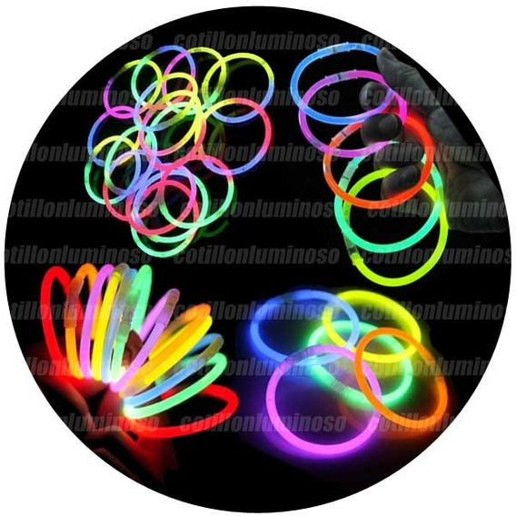 Pulseras Quimicas Luminosas Pack X 100 Cotillon Luminoso