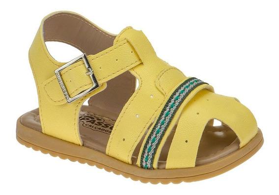 Sandalia Masculina Infantil Papete Menino Amarelo Minipasso
