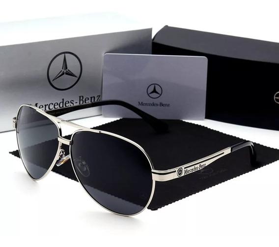Óculos Mercedes Benz Aviador - Mb 737 65 Silver