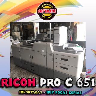 Ricoh Pro C651 C751 Importador Directo Ideal Grafica / Imprenta Consltar Pcio Muy Pocas Copias
