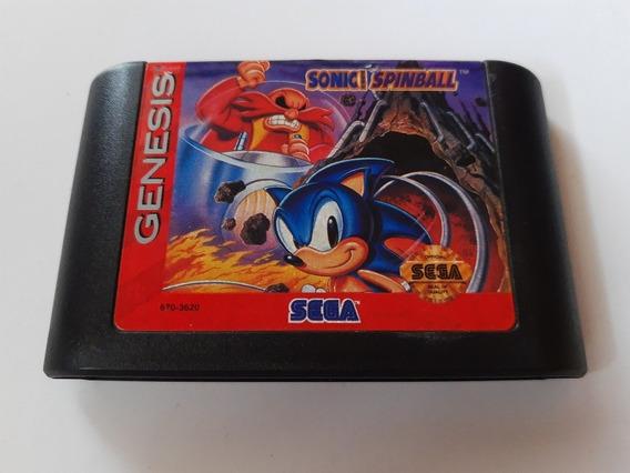 Mega Drive: Sonic Spinball Original Americano Na Caixa!!