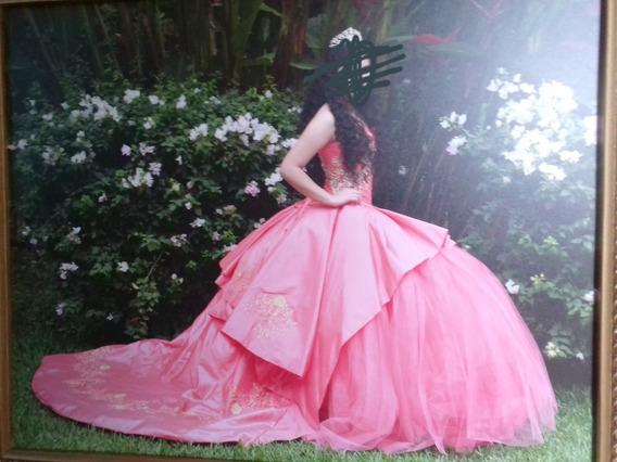 Vestido De Xv Años Color Rosa, 3 Piezas