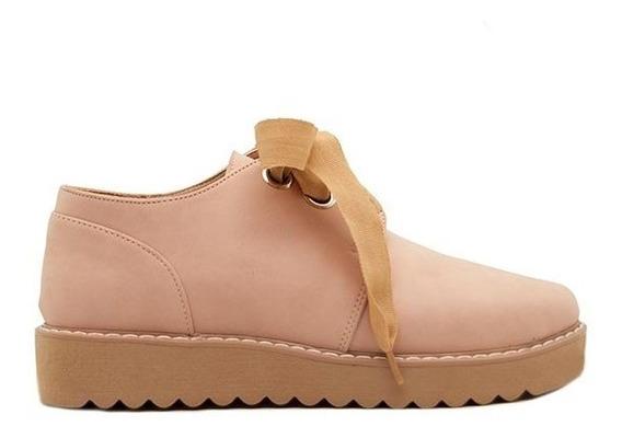 Zapatos Abotinados Mujer Cuero Ecológico Rosa Base 3cm Marta Sixto