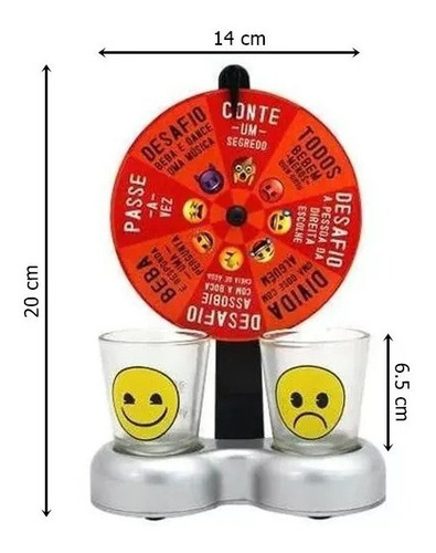 Imagem 1 de 2 de Jogo De Roleta Emoji Com 2 Copos Para Shots