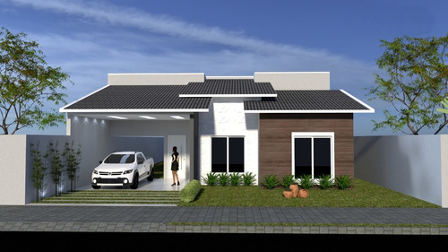 Imagem 1 de 5 de Planta De Casa 3 Quartos - Projeto Arquitetônico Completo