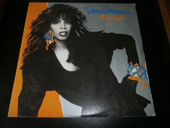 Lp Donna Summer - All Systems Go, Vinil C/ Encarte, Ano 1987
