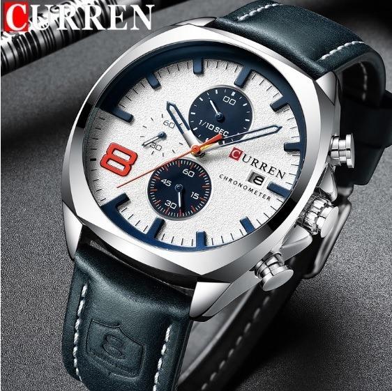 Relógio De Luxo Curren 8324 (cronógrafos) 3 Cores