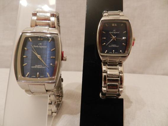Relógio Charles Raymond Masculino E Feminino Azul