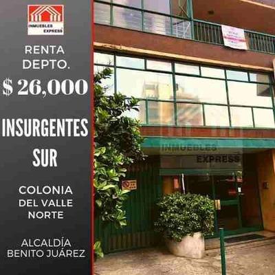 Departamento Renta Insurgentes Sur, Col. Del Valle Norte