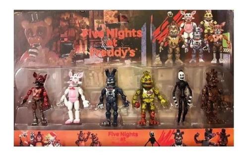 Animatronic Five Nights At Freddy's Set X 6 Personajes Nuevo