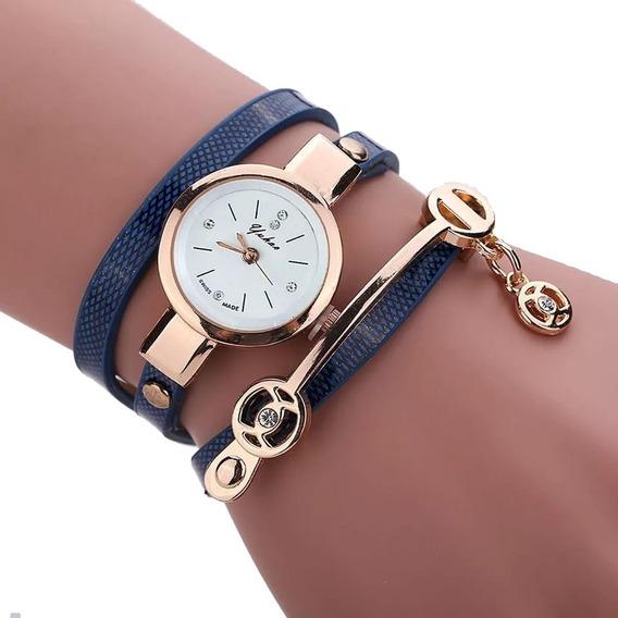 Relogio Feminino Dourado Bracelete