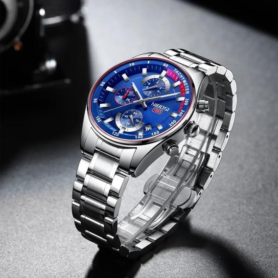 Relógio Nibosi 2358 Aço Inox Superluxuoso Barato Promoção