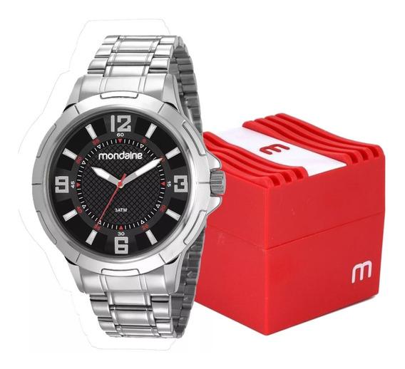 Relógio Masculino Mondaine Analógico Original Luxo 83398gomvne1 Prata Com Caixa Promoção Com Nota Fiscal E Garantia