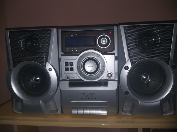 Radio Gravador Sony Mod Cmt-cv 666 Funciona Radio E A Fita