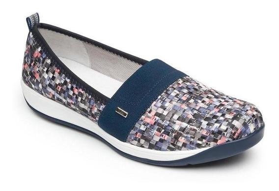 Zapato Dama Mujer Sneaker Flexi Tejido Multi Color Casual