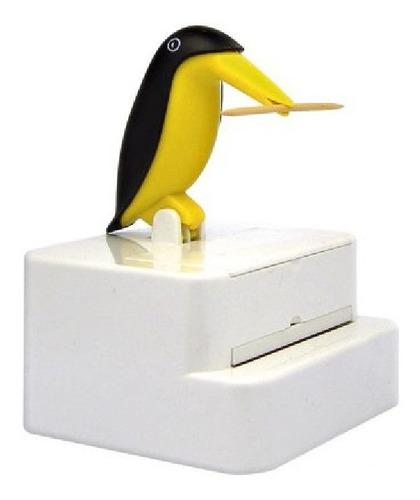 Imagem 1 de 2 de Paliteiro De Mesa Pinguim Pega Palito De Dente