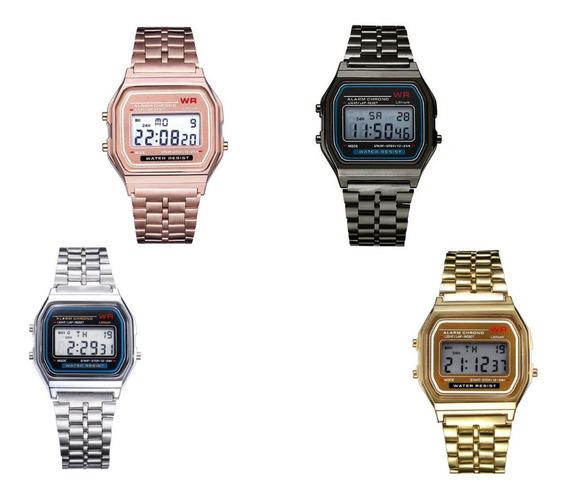 Relógio Wr De Pulso Digital Feminino Multifuncional Com Luz