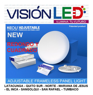 Lampara Led Panel Ufo 24w 36w Luces Gypsum Empotrable Regula