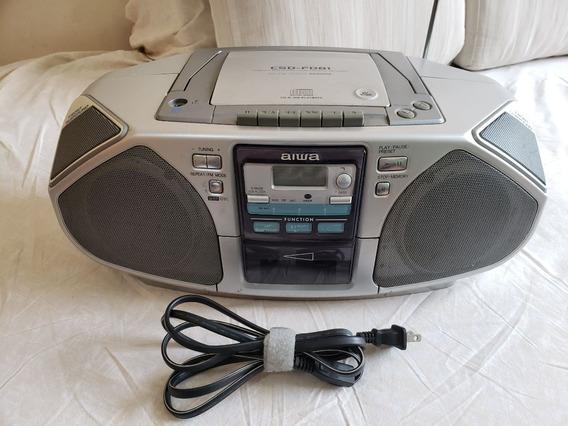 Aiwa Csd-fd81 Cd Radio Cassete Boombox Leia Todo Anuncio