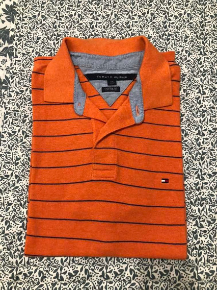Chomba Tommy Hilfiger - Naranja Talle L
