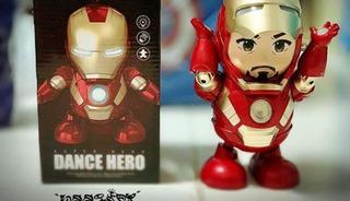 Robot Bailarín Luces Y Sonido Iron Man Dance Hero