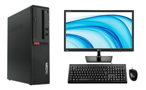 Cpu + Monitor Lenovo M720s Core I5 8ger 8gb 1tb - Promoção