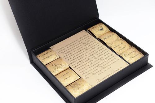 Imagem 1 de 10 de Convite Padrinhos Casamento - Kit Chocolate (14 Unidades)