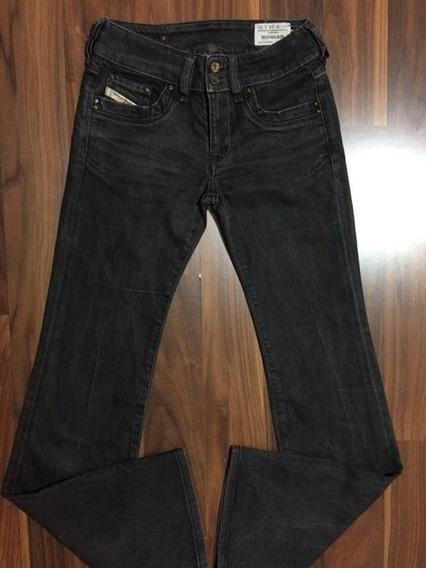 Calça Jeans Feminina Diesel 34 Grafite Original Importada