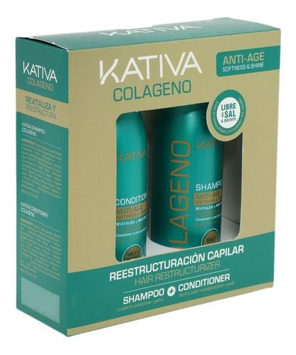 Kativa Kit (shampoo + Acondicionador) Colageno 100ml