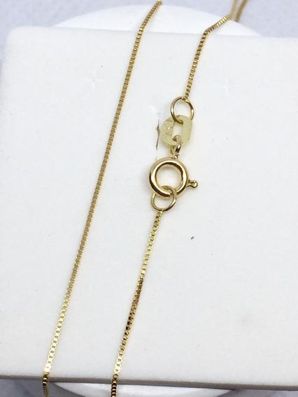 Corrente Cordao Veneziana De Ouro 18k 750 50cm Feminino