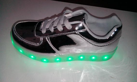 Zapatillas Con Luces Led Recargables Con Cable Usb