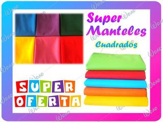 Manteles Unicolor 1,50mt X 1,50mt Fiestas Eventos Cumpleaños