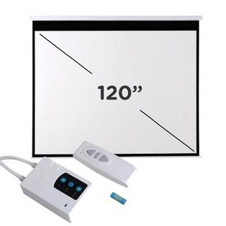 Pantalla Proyector Electrica 120 Pulgadas Manual Pared Techo